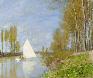 Claude Oscar Monet - Small Boat on the Small Branch of the Seine at Argenteuil