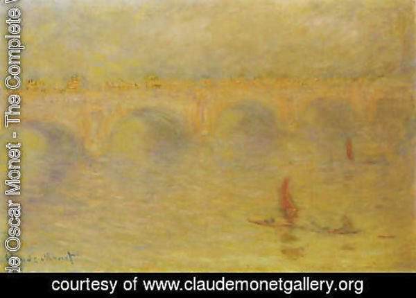 Claude Oscar Monet - Waterloo Bridge, Sunlight Effect 2