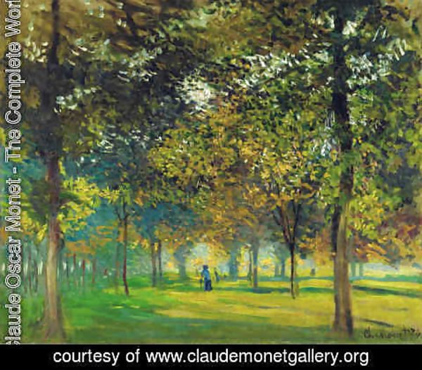 Claude Oscar Monet - The Allee du Champ de Foire at Argenteuil