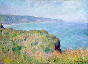 Claude Oscar Monet - Cliff near Pourville