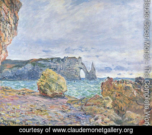 Claude Oscar Monet - Etretat, the Beach and the Porte d'Aval