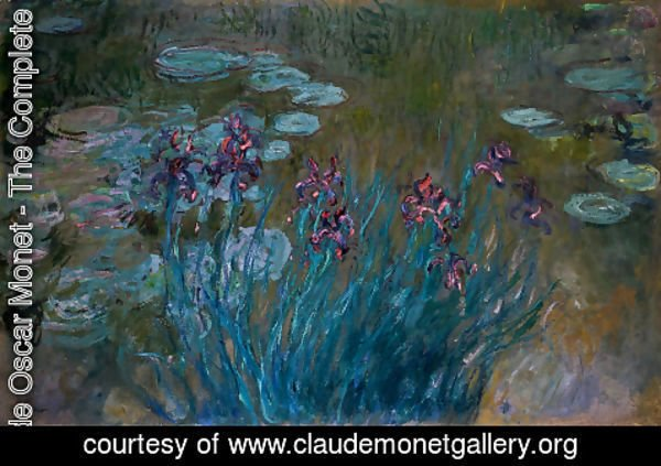 Claude Oscar Monet - Irises and Water-Lilies