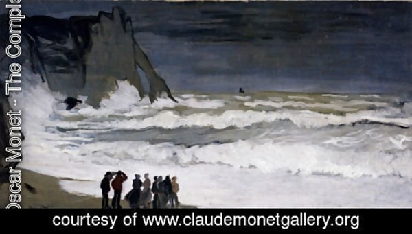 Claude Oscar Monet - Rough Sea at Etretat 3