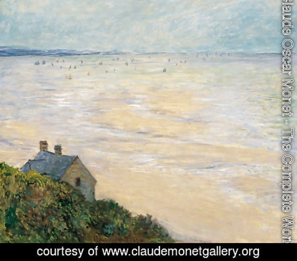 Claude Oscar Monet - The Hut at Trouville, Low Tide