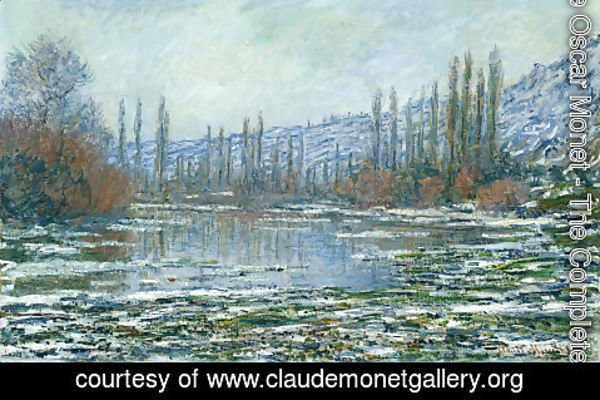 Claude Oscar Monet - The Thaw at Vetheuil
