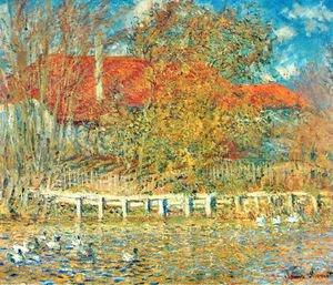 Claude Oscar Monet - The Pond with Ducks in Autumn