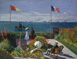 Claude Oscar Monet - Garden at Sainte-Adresse 2