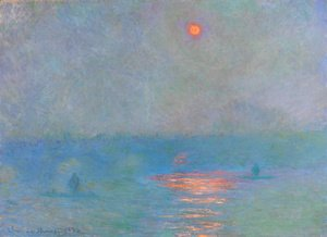 Claude Oscar Monet - Waterloo Bridge, Sunlight in the Fog 2