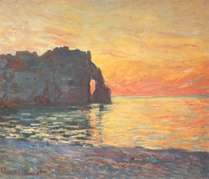Etretat, Cliff of d'Aval, Sunset