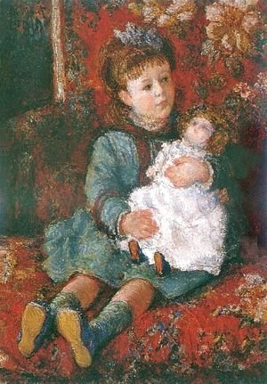 Portrait of Germaine Hoschede with a Doll