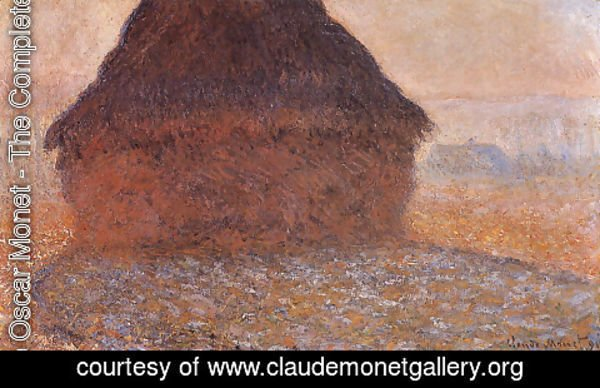 Claude Oscar Monet - Grainstack under the Sun