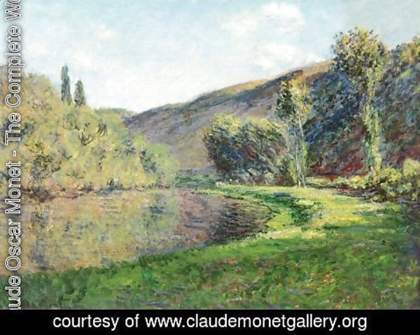 Claude Oscar Monet - The Arm of the Siene at Jeufosse, Afternoon