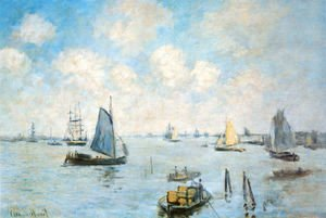 Claude Oscar Monet - The Sea at Amsterdam