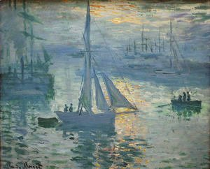 Claude Oscar Monet - Sunrise, The Sea