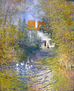 Claude Oscar Monet - Geese in the creek