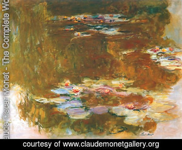 Claude Oscar Monet - Water Lily Pond 3