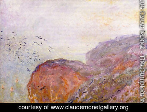 Claude Oscar Monet - A Cliff Near Dieppe