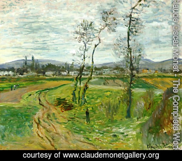 Claude Oscar Monet - A Field At Gennevilliers
