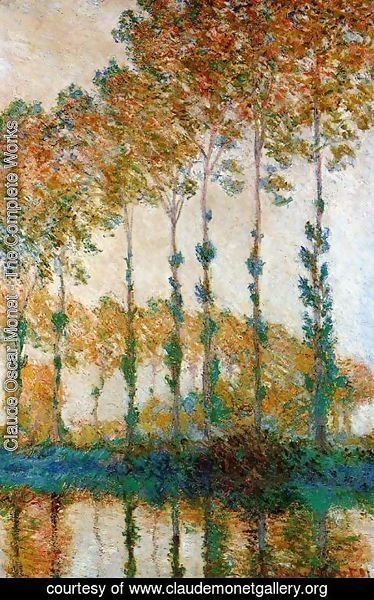 Claude Oscar Monet - A Row Of Poplars