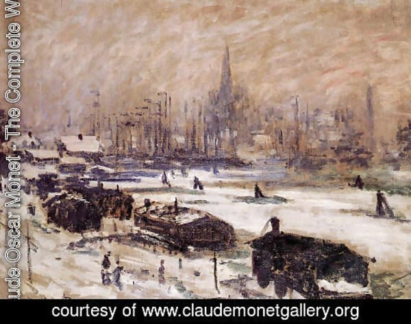 Claude Oscar Monet - Amsterdam In The Snow