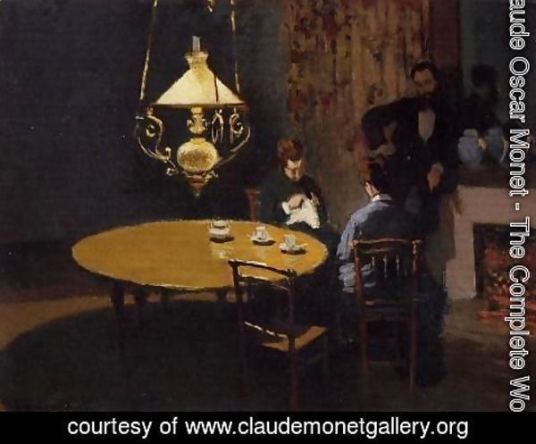 Claude Oscar Monet - An Interior After Dinner