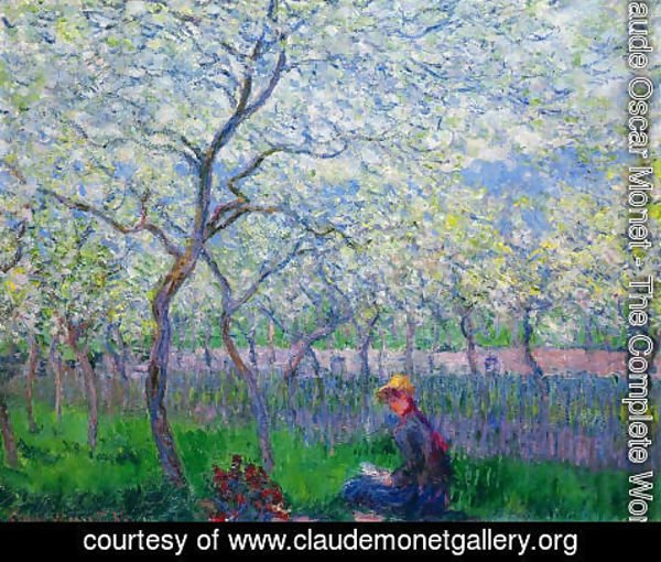 Claude Oscar Monet - An Orchard In Spring
