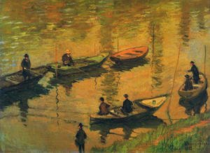Claude Oscar Monet - Anglers On The Seine At Poissy