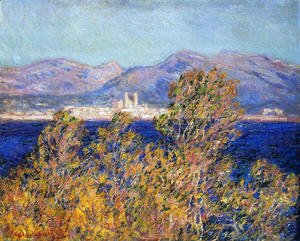 Claude Oscar Monet - Antibes Seen From The Cape  Mistral Wind