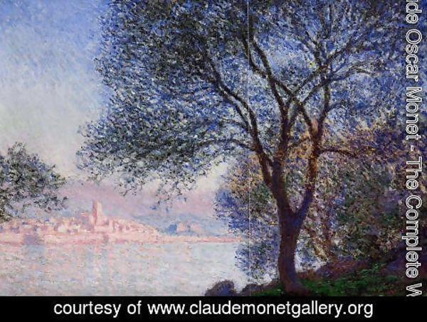 Claude Oscar Monet - Antibes Seen From The Salis Gardens