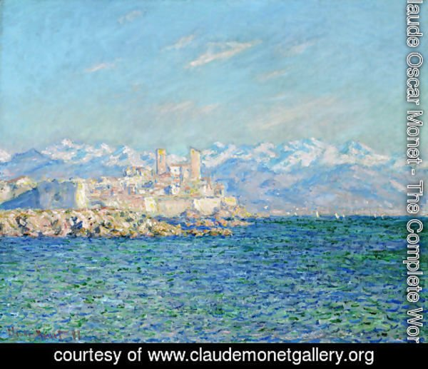 Claude Oscar Monet - Antibes  Afternoon Effect