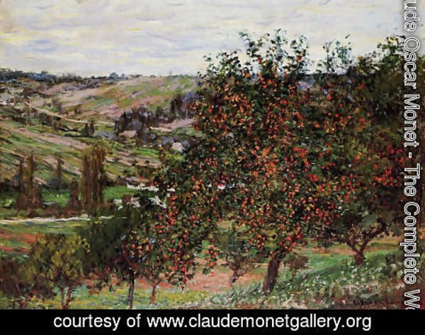 Claude Oscar Monet - Apple Trees Near Vetheuil