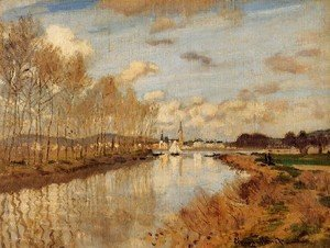 Claude Oscar Monet - Argenteuil  Seen From The Small Arm Of The Seine 2