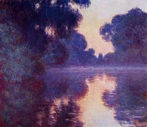 Claude Oscar Monet - Arm Of The Seine Near Giverny At Sunrise