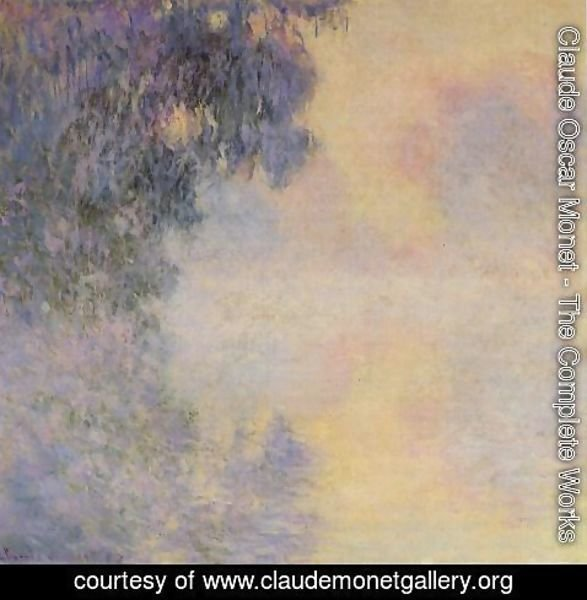 Claude Oscar Monet - Arm Of The Seine Near Giverny In The Fog