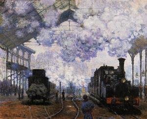 Claude Oscar Monet - Arrival At Saint Lazare Station