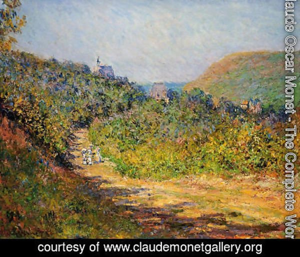 Claude Oscar Monet - At Les Petit Dalles