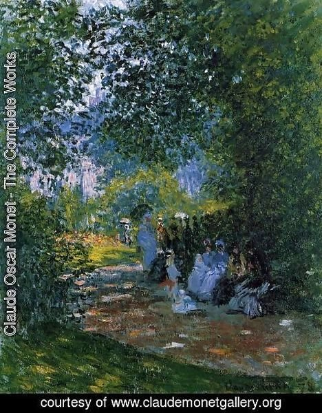 Claude Oscar Monet - At The Parc Monceau