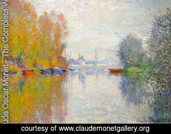 Claude Oscar Monet - Autumn On The Seine At Argenteuil