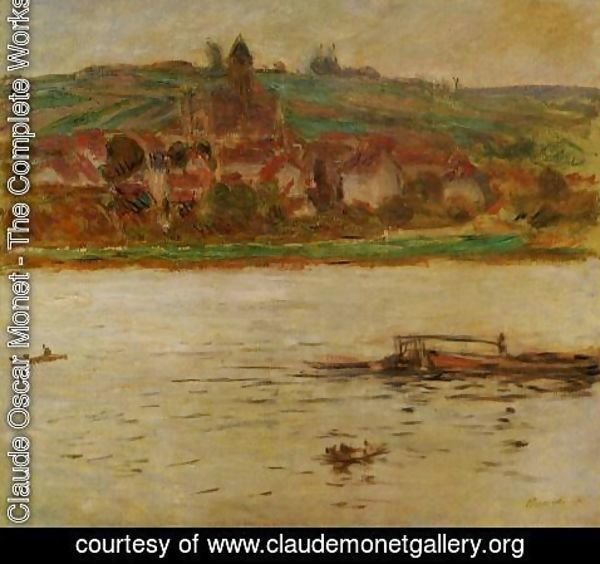 Claude Oscar Monet - Barge On The Seine At Vertheuil Aka Vetheuil