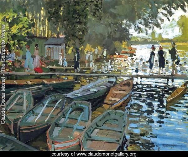 Claude Oscar Monet - The Complete Works - Bathers At La ...