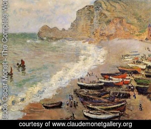 Claude Oscar Monet - Beach At Etretat
