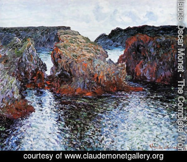 Claude Oscar Monet - Belle Ile  Rocks At Port Goulphar