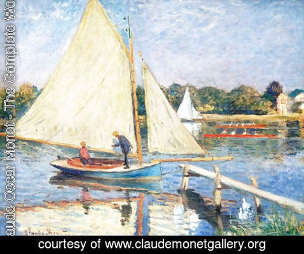 Claude Oscar Monet - Boaters At Argenteuil