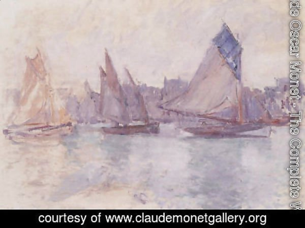 Claude Oscar Monet - Boats In The Port Of Le Havre