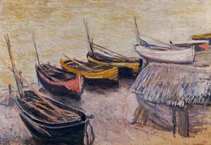Claude Oscar Monet - Boats On The Beach