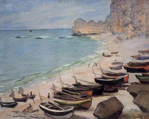 Boats On The Beach At Etretat