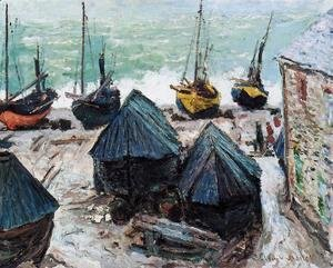 Claude Oscar Monet - Boats On The Beach At Etretat2