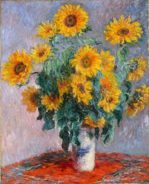 Claude Oscar Monet - Bouquet Of Sunflowers