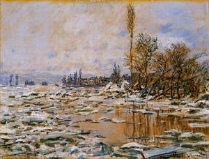 Claude Oscar Monet - Breakup Of The Ice  Lavacourt