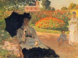 Claude Oscar Monet - Camille In The Garden With Jean And His Nanny